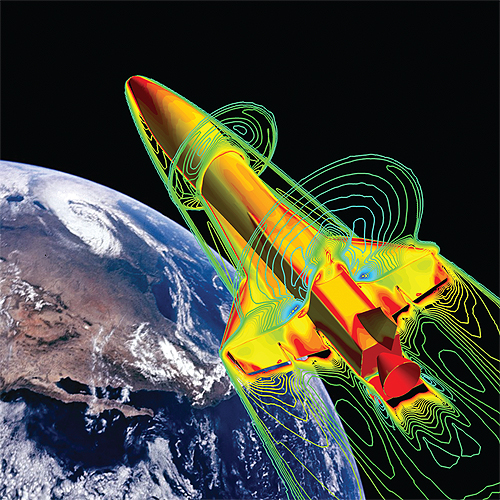 NASA-X-34-hypersonic-re-entry-simulation